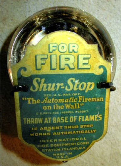 Fire grenades were staples in 19th century households.  (The Spokesman-Review)