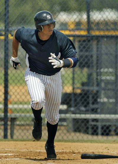Alex Rodriguez can't run away from a new negative book.  (Associated Press / The Spokesman-Review)