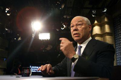 Colin Powell appears on the CBS talk show