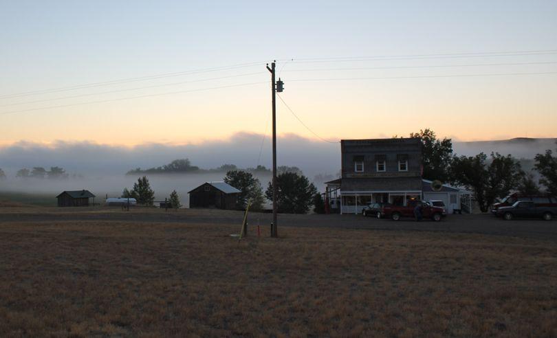 The 1912 homestead town of Virgelle, Montana at sunrise. (Cheryl-Anne Millsap / Photo by Cheryl-Anne Millsap)