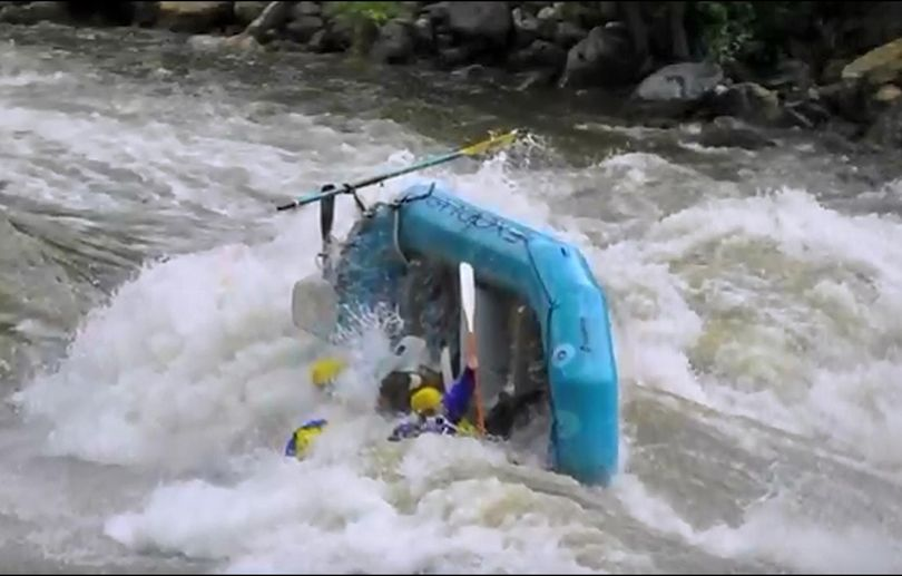 Whitewater carnage at the Bigwater Blowout on the Salmon River near Riggins, Idaho. (Courtesy)