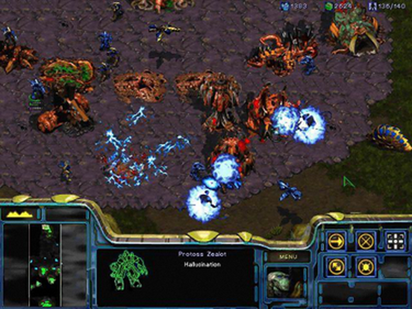 Blizzard's Starcraft was widely praised in 1998 for introducing three asymmetric races to the popular real-time strategy formula, upping the replay value tremendously.  (Wikimedia)