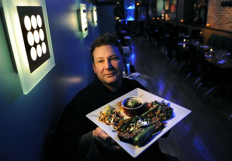 Chef Ian Wingate offers carne asada at his Agave restaurant on the corner of Sprague and Lincoln in Spokane. (Dan Pelle)