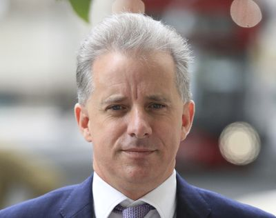 FILE - In this file photo dated July 24, 2020, showing former British intelligence officer Christopher Steele in London. Britain's High Court on Friday Oct. 30, 2020, has dismissed a libel claim by Russian Tech entrepreneur Aleksej Gubarev against Christopher Steele, the author of a report on U.S. President Donald Trump's alleged links to Russia.  (Aaron Chown)