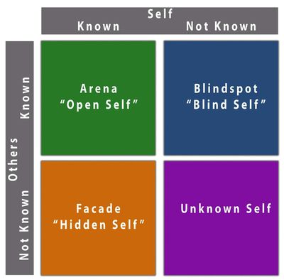 The Johari Windowis a convenient method used to achieve this task of understanding and enhancing communication between the members in a group, particularly in regard to personal values like self-awareness.  (Indiana State University)