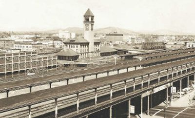 The Great Northern Railroad Depot, built in 1902, lasted more than 70 years until Expo '74 landed in Spokane.   (File photos  archive / The Spokesman-Review)