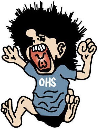 "Orofino High School mascot, for the ""Orofino Maniacs"" (Lewiston Tribune)"