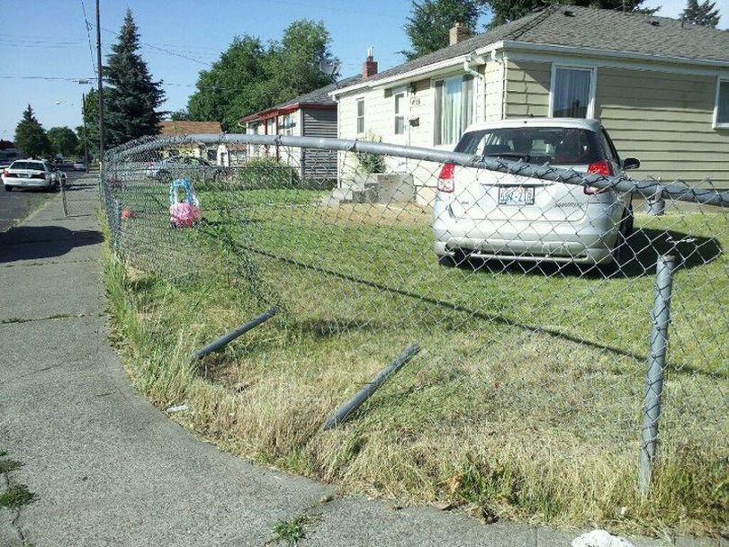 A woman being pursued by police crashed a stolen car into a house in north Spokane Wednesday then tried to hide in a stranger's garage, police say. Kristina M. Groce, 21, ran from the crash at 4906 N. Pittsburg St. and entered a home at 1711 E. Wabash Ave., uninvited, asked to use the phone and told the homeowner not to call police, according to court documents. Officer Dan Cole tried to stop Groce after realizing the 2003 Toyota Celica she was driving was stolen. Cole said Groce drove over 60 mph and ran a stop sign at Nevada and Wabash before crashing into the home.