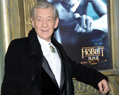 Sir Ian McKellen attends the premiere of his film
