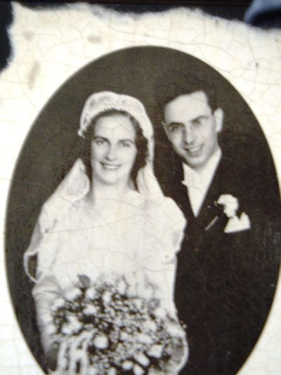 Laura and Walter Stewart married in June 1941.