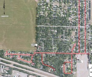 Welch-Comer chip-seal map (Courtesy: City of Coeur d'Alene)