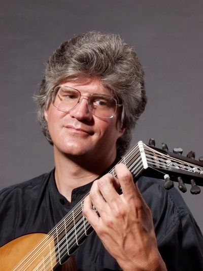 """August Denhard will perform solos on the theorbo, a baroque lute, in Allegro's """"Viva L'Italia"""" concert Friday at the Bing Crosby Theater. Courtesy of Allegro Baroque and Beyond (Courtesy of Allegro Baroque and Beyond)"""