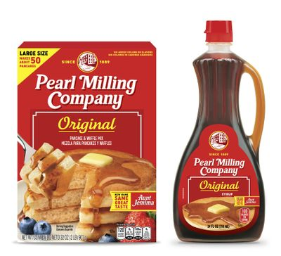 This image provided by PepsiCo Inc. shows Quaker Oats' Pearl Milling Company brand pancake mix and syrup, formerly the Aunt Jemima brand.   (Associated Press)