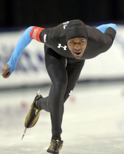 American Shani Davis has 57 career World Cup medals. (Associated Press)