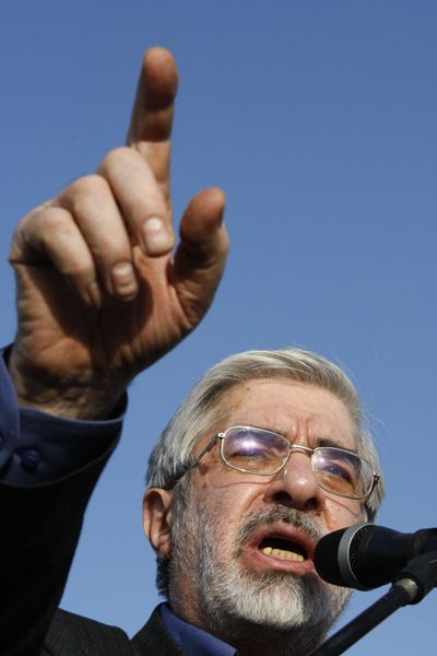 Presidential candidate Mir Hossein Mousavi, seen here in June 2009, is the leading figure of a reform movement in Iran.  (File Associated Press)