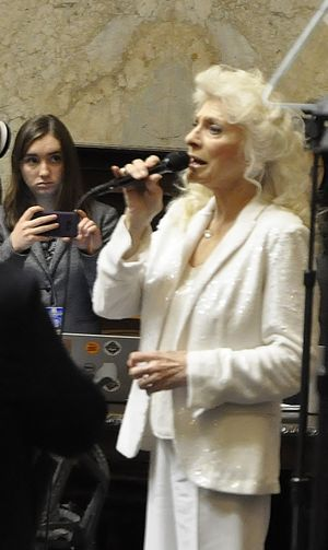 """OLYMPIA -- Judy Collins sings """"The Star Spangled Banner"""" at the opening of the inaugural session of the Legislature on 1/11/2017. (Jim Camden/The Spokesman-Review)"""
