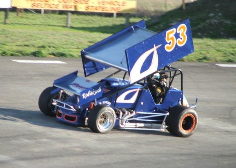 Tony Berry turns it loose at Stateline Speedway. (Photo courtesy AJB Motorsports Marketing) (The Spokesman-Review)