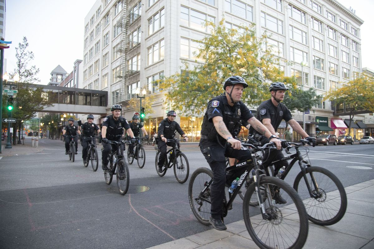After protests, Spokane Police Department trains new officers for Bicycle Rapid Response Team