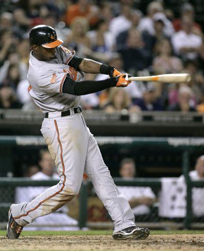 Ex-Mariner Adam Jones had All-Star season for Baltimore.  (Associated Press / The Spokesman-Review)