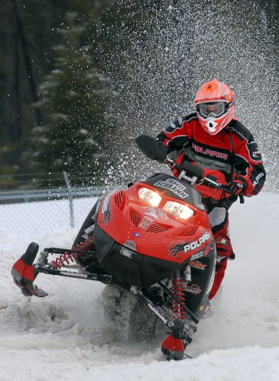A warm welcome awaits snowmobilers near McCall. (File / The Spokesman-Review)