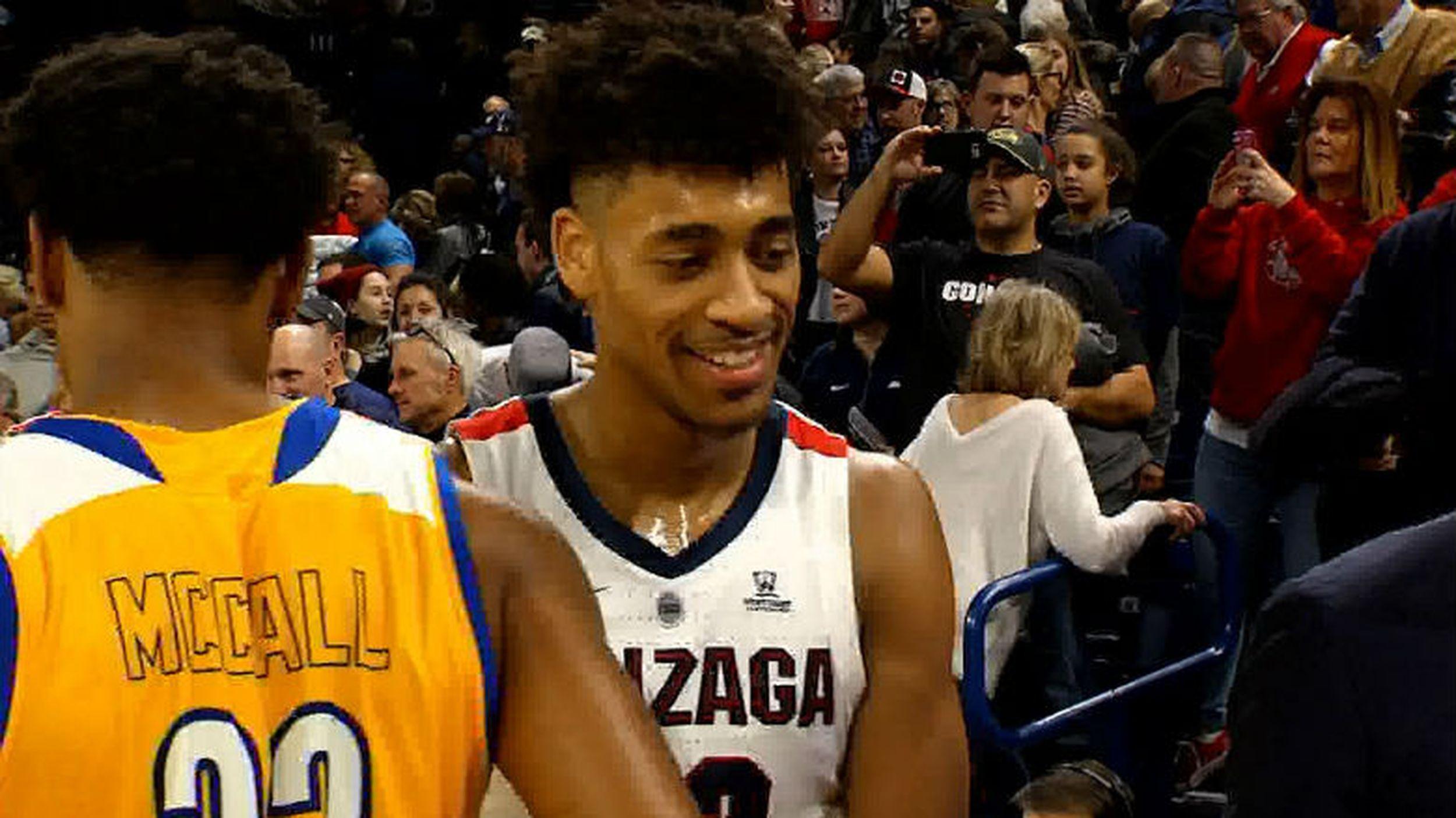 VIDEO: Jeremy Jones proving to be valuable asset for Gonzaga - Jan ...