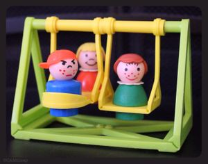 Fisher-Price's Little People have been pleasing generations of young people.   (Cheryl-Anne Millsap)