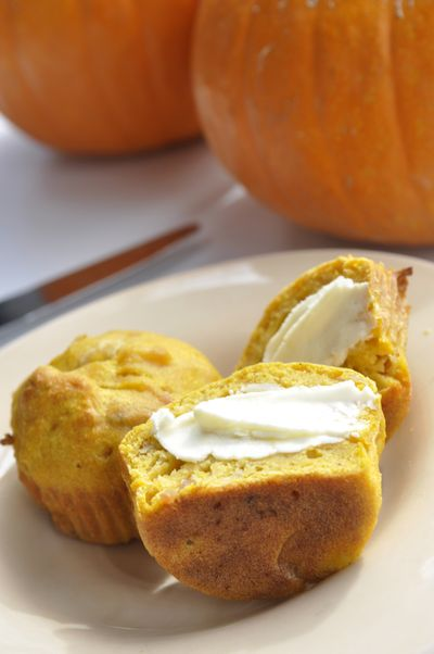 These savory pumpkin muffins are made from real pumpkins, and are relatively easy to make. (Adriana Janovich)