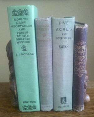 Vintage books on organic farming. (Cheryl-Anne Millsap / Photo by Cheryl-Anne Millsap)