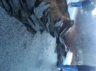 Road washout on Rimrock Road (Kootenai County Sheriff's Office courtesy )