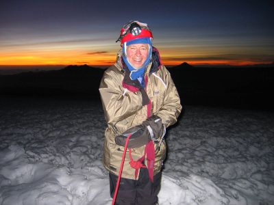 Eddy pauses on the summit of 20,700-foot Mount Chimborazo in Ecuador, where he summitted with a guide's assistance in January 2008. Courtesy of Dawes Eddy (Courtesy of Dawes Eddy / The Spokesman-Review)