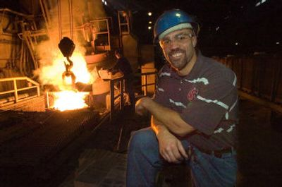 Ex-Cougar Billy Newman works at Spokane Steel Foundry.   (The Spokesman-Review)
