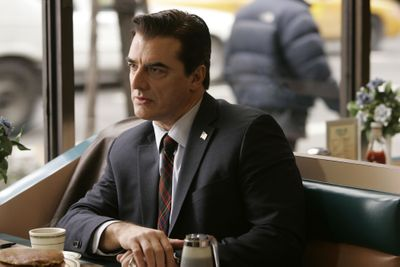 """Chris Noth plays police Detective Mike Logan on NBC's """"Law & Order: Criminal Intent."""" Noth, who left the original """"Law & Order,"""" apears in his last 'CI' episode. (Associated Press / The Spokesman-Review)"""