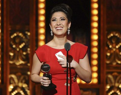 In this June 7, 2015 file photo, Ruthie Ann Miles accepts the award for best performance by an actress in a featured role in a musical for