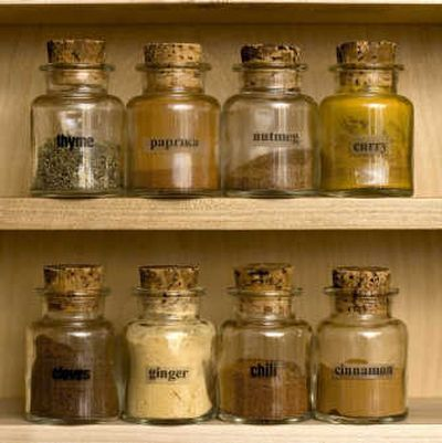 Store  spices in airtight glass, ceramic or stainless steel containers in a cool, dark spot. Associated Press photos  (Associated Press photos / The Spokesman-Review)