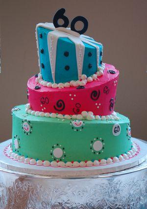 The cake for Carol Edwards' 60th birthday.