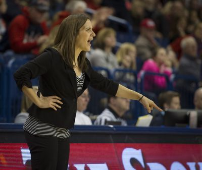 GU's Lisa Fortier shared WCC coach of the year award, but should have won it outright. (Colin Mulvany)