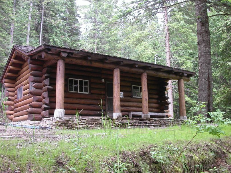 The historic Avery Creek Cabin on the North Fork of the Coeur d'Alene River was refurbished by the in the Idaho Panhandle National Forests and made available for rent in 2012. (U.S. Forest Service)