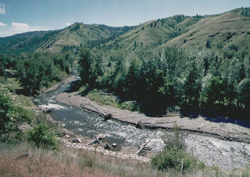 The Tucannon River, flowing out of the Blue Mountains near Dayton, Wash., supports a range of fisheries at adjacent lakes. (Associated Press)