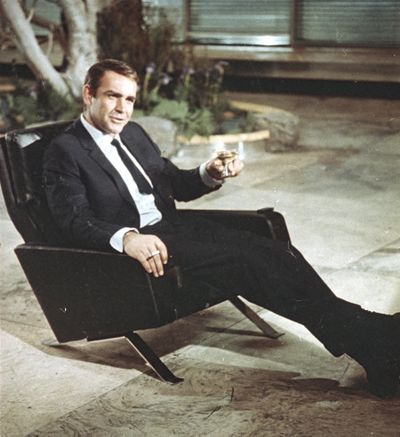 In this file photo dated July 29, 1966, actor Sean Connery is shown during filming the James Bond movie