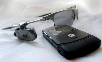 A new version of Oakley sunglasses not only protects the wearer from harmful UV rays, but it also allows him or her to make and receive phone calls via BlueTooth technology.   (Amanda Smith / The Spokesman-Review)