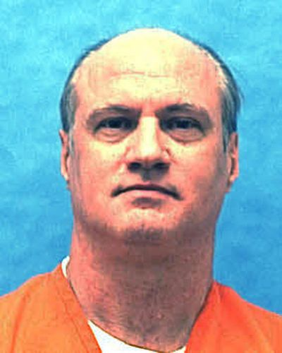 This undated photo provided by the Florida Department of Law Enforcement, shows Michael Lambrix in custody. Lambrix is scheduled for execution Thursday, Oct. 5, 2017, for the 1983 killings of Clarence Moore and Aleisha Bryants near LaBelle, Fla. (Florida Department of Law Enforcement / Associated Press)