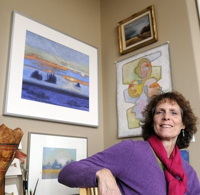 Deanna Camp is a Spokane artist who captures scenes surrounding her Five Mile Prairie home. She also does graphic design with some of her images, such as the trout cards she creates. (CHRISTOPHER ANDERSON)