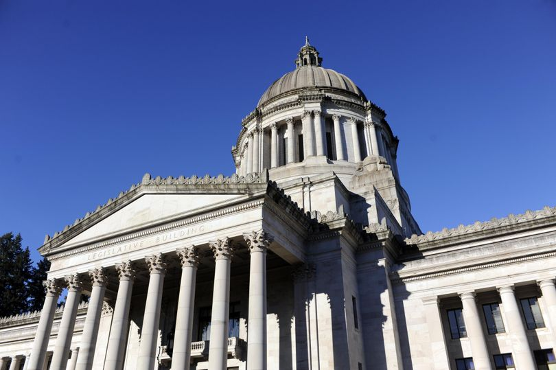The Washington state Capitol building in Olympia features the classic dome architecture and houses the governor's office and the Legislature's two chambers. Photographed Thursday, Jan. 5, 2017. (Jesse Tinsley / The Spokesman-Review)