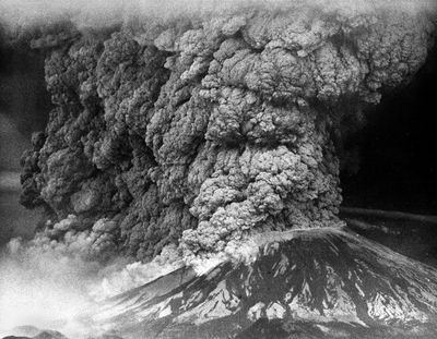 The 1980 eruption of Mt. St. Helens sent a plume of ash that blotted out the sun in parts of Washington and North Idaho. The ash fell like snow, drifted as deep as 2 feet, and crushed crops, halted transportation and caused schools and businesses to close. (Christopher Anderson / The Spokesman-Review)