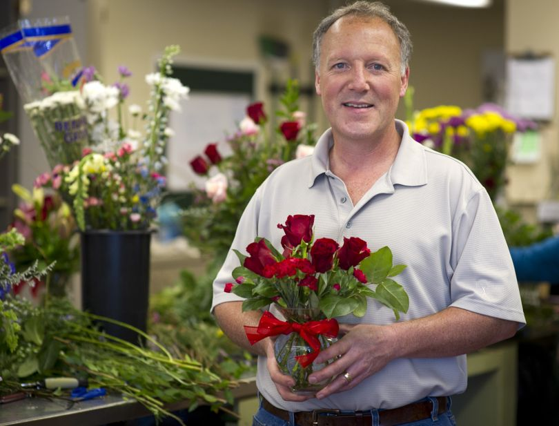 Jim Alice is the third-generation owner of Liberty Park Florist and Greenhouse. Valentine's Day is his busiest time. (Colin Mulvany)
