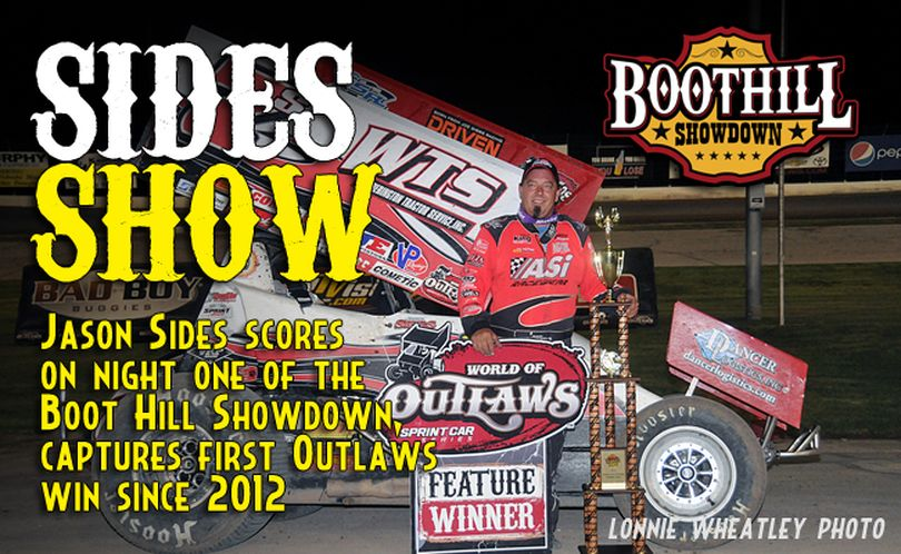 The last time Jason Sides stood in victory lane with the World of Outlaws was at Federated Auto Parts Raceway at I-55 in October 2012. (Photo Credit: Lonnie Wheatley?WoO Sprint Car Series)