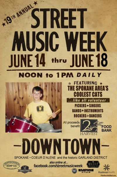 Street Music Week is next Monday through Friday from 12-1 p.m.