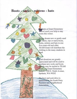 Poster for South Perry Sock Drive (Pia Hallenberg)