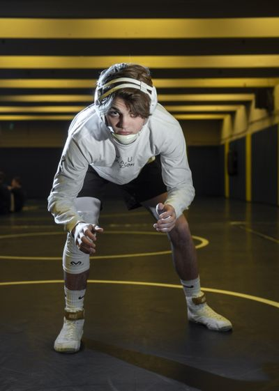 Mead two-time state champion Chase Tebbets won the 132-pound weight class by technical fall at the Mead-Mt. Spokane dual meet last week. Mt. Spokane won the meet 30-29. (Colin Mulvany / The Spokesman-Review)