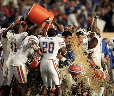 Gatorade seems to be the popular choice in South Florida.  (Associated Press / The Spokesman-Review)
